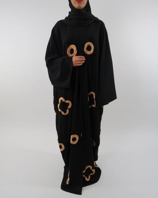 Amani's Full Length Long Sleeve Maxi Kimono Jacket – Coat Style UK - Kimono Jackets - Abaya Overcoats - KimonoJacket043