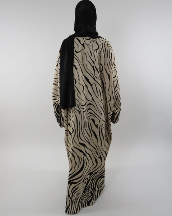 Amani's Full Length Long Sleeve Maxi Kimono Jacket – Coat Style UK - Kimono Jackets - Abaya Overcoats - KimonoJacket042