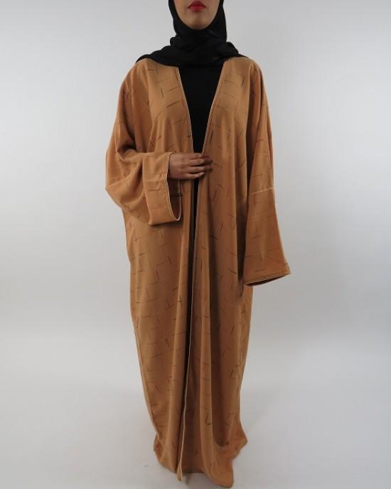 Amani's Full Length Long Sleeve Maxi Kimono Jacket – Coat Style UK - Kimono Jackets - Abaya Overcoats - KimonoJacket041