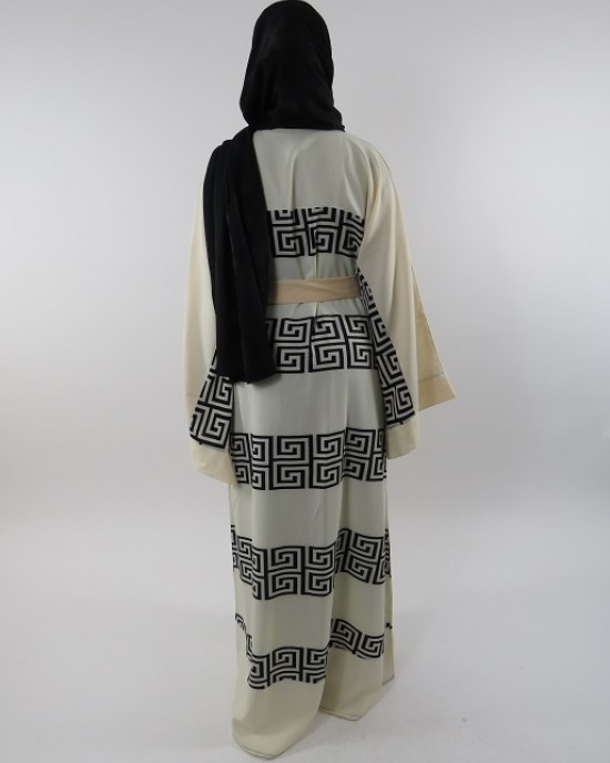 Amani's Full Length Long Sleeve Maxi Kimono Jacket – Coat Style UK - Kimono Jackets - Abaya Overcoats - KimonoJacket038