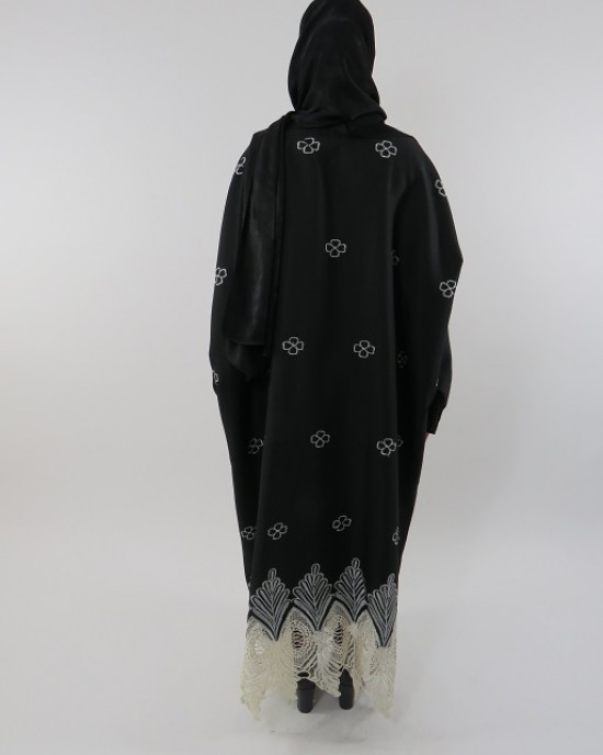 Amani's Full Length Long Sleeve Maxi Kimono Jacket – Coat Style UK - Kimono Jackets - Abaya Overcoats - KimonoJacket054