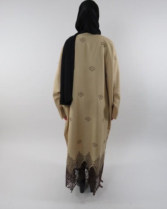 Amani's Full Length Long Sleeve Maxi Kimono Jacket – Coat Style UK - Kimono Jackets - Abaya Overcoats - KimonoJacket034