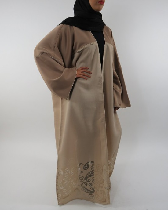 Amani's Full Length Long Sleeve Maxi Kimono Jacket – Coat Style UK - Kimono Jackets - Abaya Overcoats - KimonoJacket053