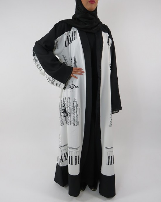 Amani's Full Length Long Sleeve Maxi Kimono Jacket – Coat Style UK - Kimono Jackets - Abaya Overcoats - KimonoJacket023