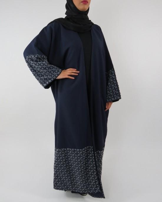 Amani's Full Length Long Sleeve Maxi Kimono Jacket – Coat Style UK - Kimono Jackets - Abaya Overcoats - KimonoJacket022
