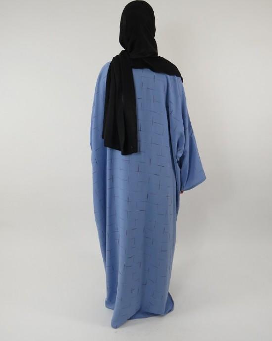 Amani's Full Length Long Sleeve Maxi Kimono Jacket – Coat Style UK - Kimono Jackets - Abaya Overcoats - KimonoJacket020