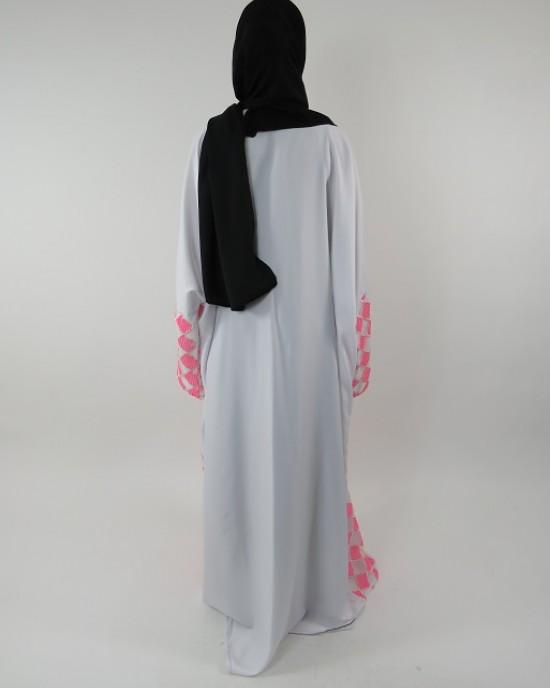 Amani's Full Length Long Sleeve Maxi Kimono Jacket – Coat Style UK - Kimono Jackets - Abaya Overcoats - KimonoJacket019