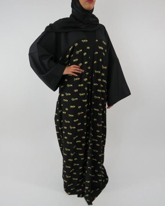 Amani's Full Length Long Sleeve Maxi Kimono Jacket – Coat Style UK - Kimono Jackets - Abaya Overcoats - KimonoJacket018