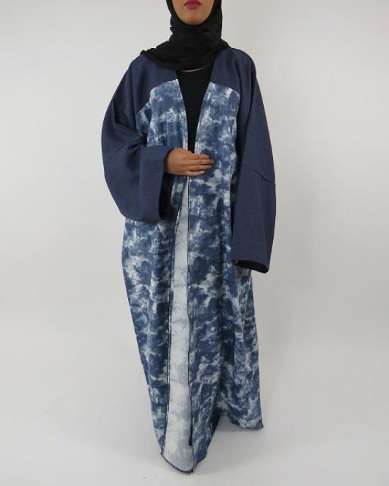 Amani's Full Length Long Sleeve Maxi Kimono Jacket – Coat Style UK - Kimono Jackets - Abaya Overcoats - KimonoJacket017