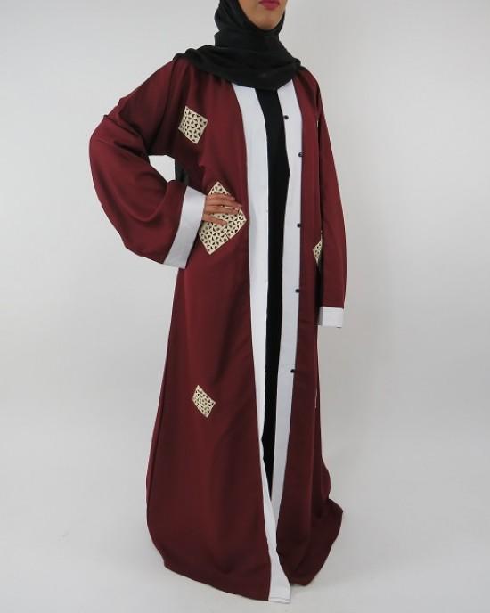 Amani's Full Length Long Sleeve Maxi Kimono Jacket – Coat Style UK - Kimono Jackets - Abaya Overcoats - KimonoJacket015