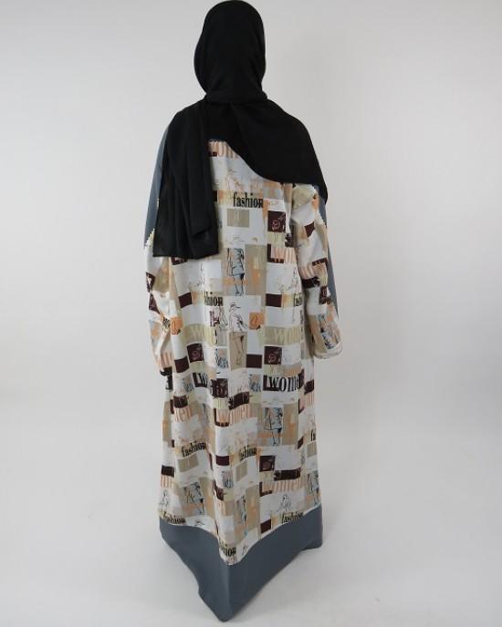 Amani's Full Length Long Sleeve Maxi Kimono Jacket – Coat Style UK - Kimono Jackets - Abaya Overcoats - KimonoJacket014