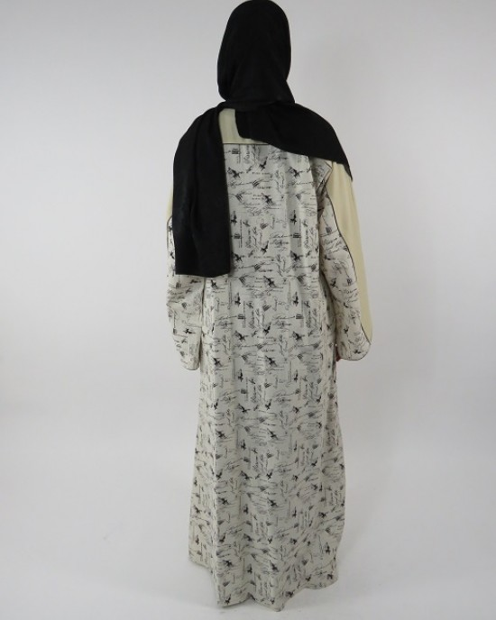 Amani's Full Length Long Sleeve Maxi Kimono Jacket – Coat Style UK - Kimono Jackets - Abaya Overcoats - KimonoJacket013