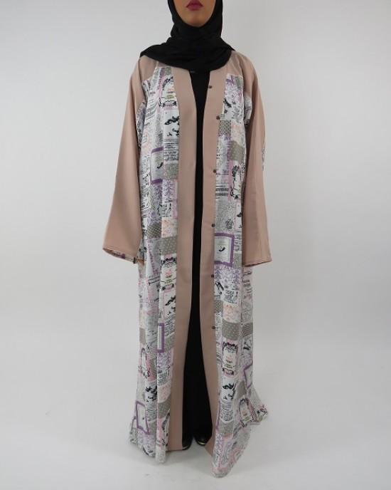 Amani's Full Length Long Sleeve Maxi Kimono Jacket – Coat Style UK - Kimono Jackets - Abaya Overcoats - KimonoJacket011