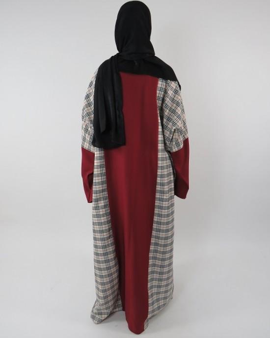 Amani's Full Length Long Sleeve Maxi Kimono Jacket – Coat Style UK - Kimono Jackets - Abaya Overcoats - KimonoJacket009