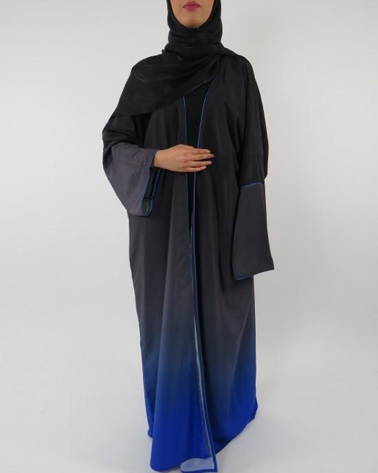 Amani's Full Length Long Sleeve Maxi Kimono Jacket – Coat Style UK - Kimono Jackets - Abaya Overcoats - KimonoJacket008