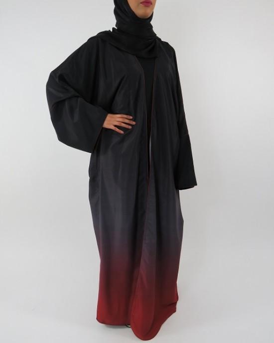 Amani's Full Length Long Sleeve Maxi Kimono Jacket – Coat Style UK - Kimono Jackets - Abaya Overcoats - KimonoJacket007