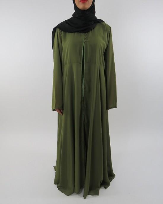 Amani's Green Transparent Chiffon Jacket Style UK - Jackets - ChiffonJacket003