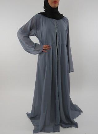 Amani's Grey Transparent Chiffon Jacket Style UK