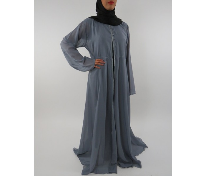 be29978504 ... Amani s Beige Long Sleeve Wrap Around Maxi Jacket – Dress Style UK