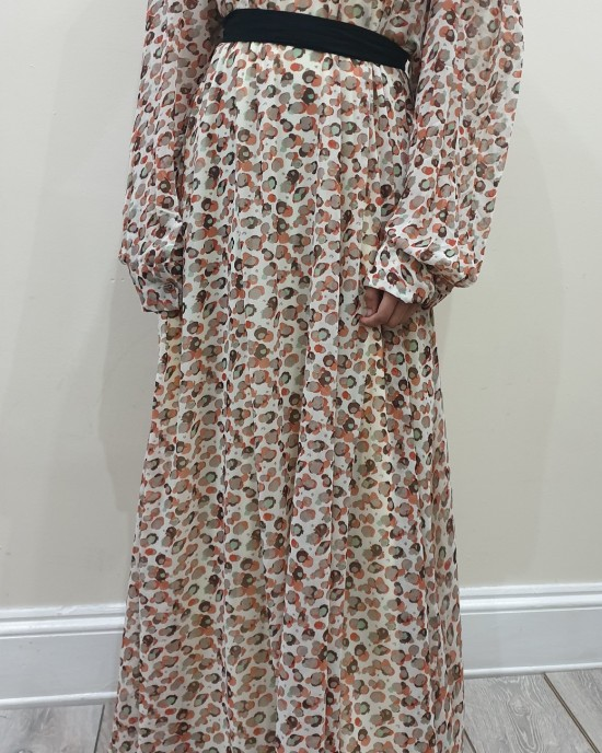Animal print chiffon long sleeve dress uk - New Arrivals - An19