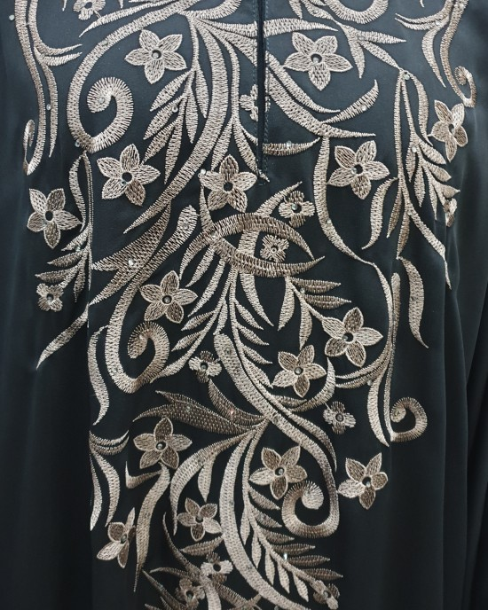 Aswad Embroidery abaya style uk - Abayas - AS19