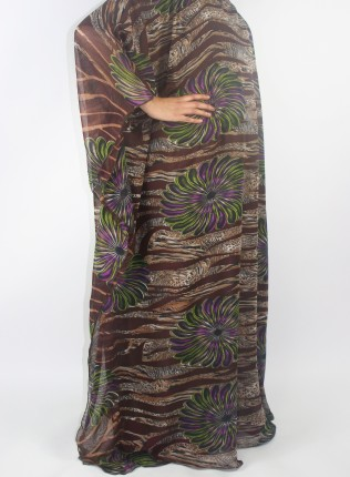 Amani's Brown Everyday Kaftan Maxi Dress With Inner Lining Style UK