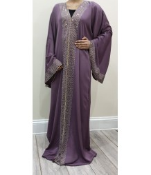 Haya Star Light open abaya style uk