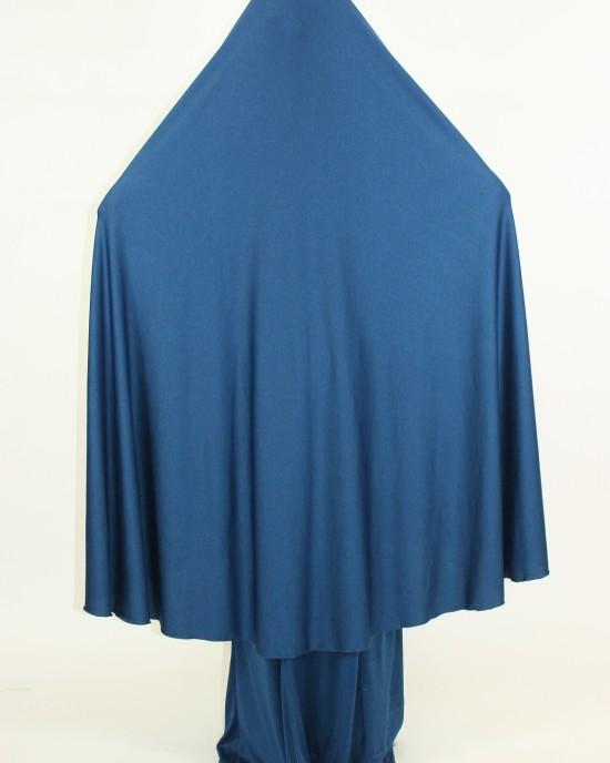 Amani's 2 Piece Blue Jersey Stretch Overhead Jilbab – Burka – Burqa Style UK