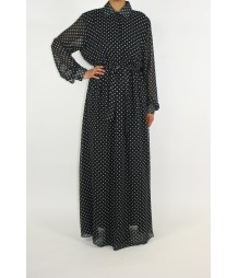 Black Polka Dot Dress PD001
