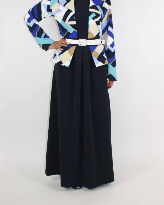 Jacket Layered Long Sleeve Maxi Dress Style UK - CLEARANCE - G001