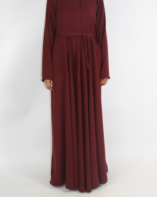 Amani's A-line Long Sleeve Maxi Dress With Pleats Style UK - Long Sleeve Maxi Dresses - MaxiDress040