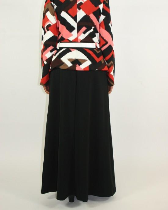 Jacket Layered Long Sleeve Maxi Dress Style - CLEARANCE - G006