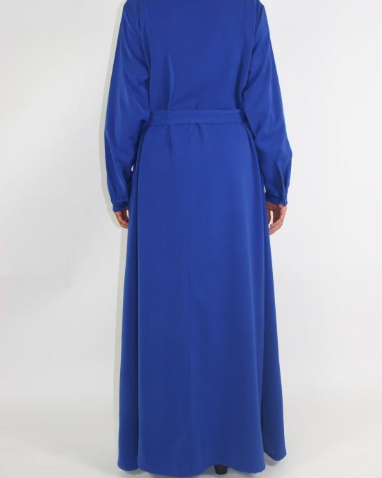 Amani's Blue Long Sleeve Maxi Jacket Style UK