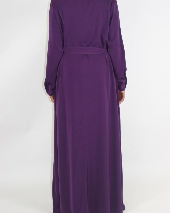 Amani's Purple Long Sleeve Maxi Jacket Style UK - Jackets - Jacket015