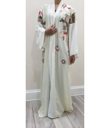 Joelle Fresh cream kimono abaya Style UK