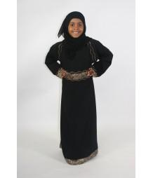 Amani s Black And Gold Kids Abaya Style UK a881be7c4da6