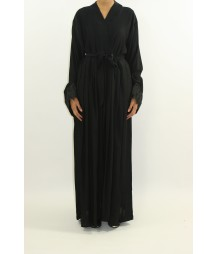 Aafreeda Closed Pleated Abaya Style EM005 UK
