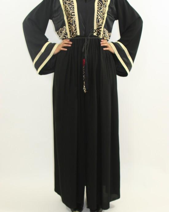 Amani's 2 Piece Designer Trouser Abaya Styles UK - Abayas - Abaya066