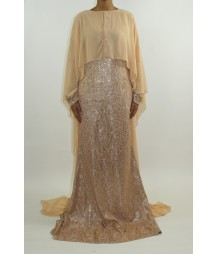 Amalia Occasion Long Sleeve Maxi Style AST3 UK