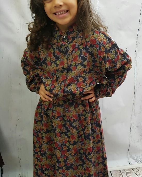 Mia s Floral Print Cotton Maxi Dress - Childrens Dresses - AME019