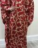 Tara red silk satin kaftan maxi dress - New Arrivals - tara002
