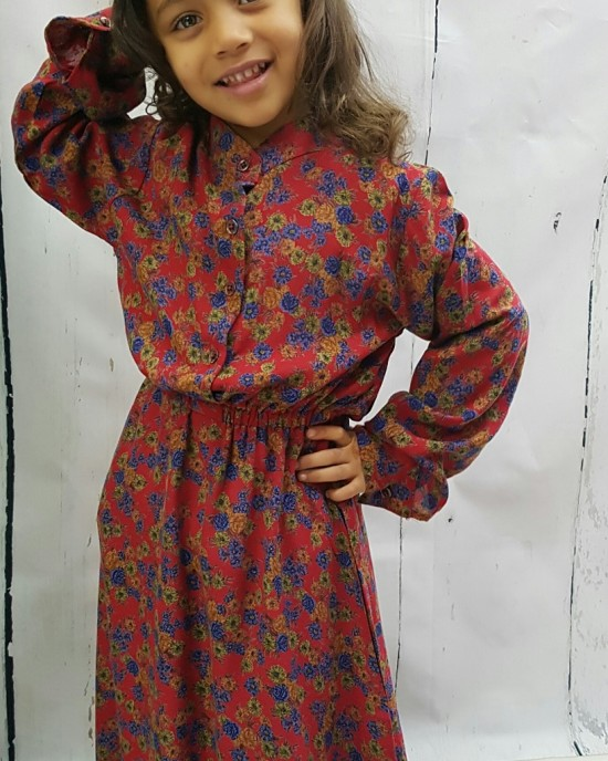 Mia s Cotton Kids Long Sleeve Maxi Dress - Childrens Dresses - AME016