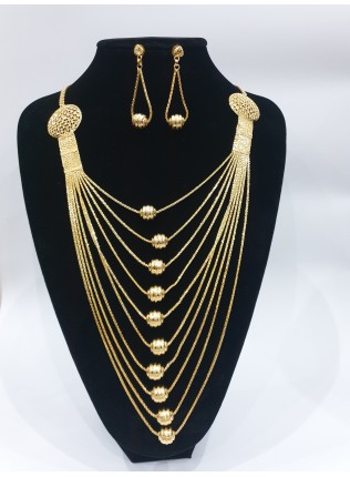 22k 10 chain gold plated set