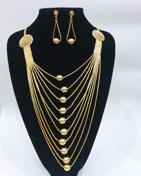 22k 10 chain gold plated set - Jewellery sets - style 008
