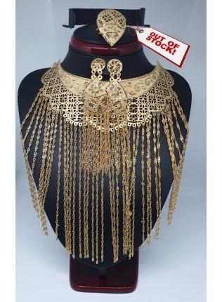 22k Tassel choker necklace set