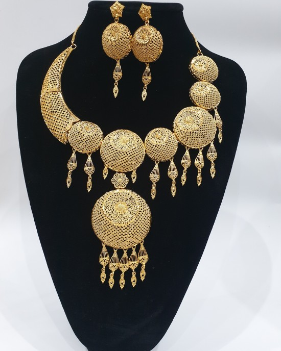 22k Gold plated Bridal set - Jewellery sets - style 005